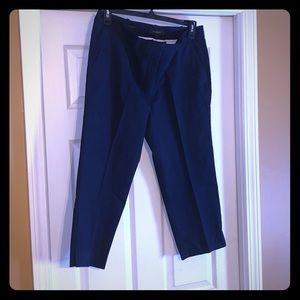 Talbots size 14 Navy Blue Crop pants